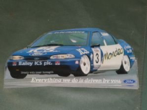 FORD MONDEO Radisich BTCC #3 sticker